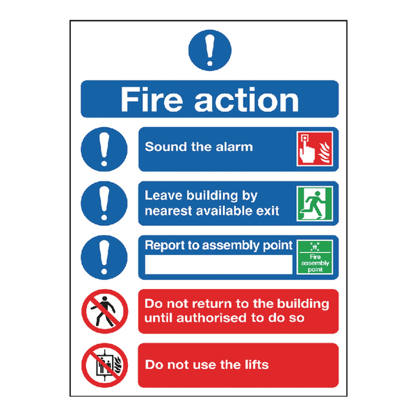 Fire Action Symbol A5 FR099A5