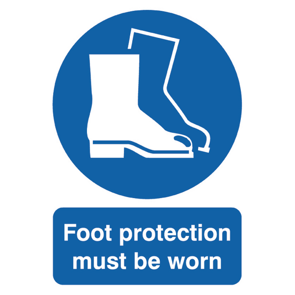 Foot Protection Must be Worn A4 PVC