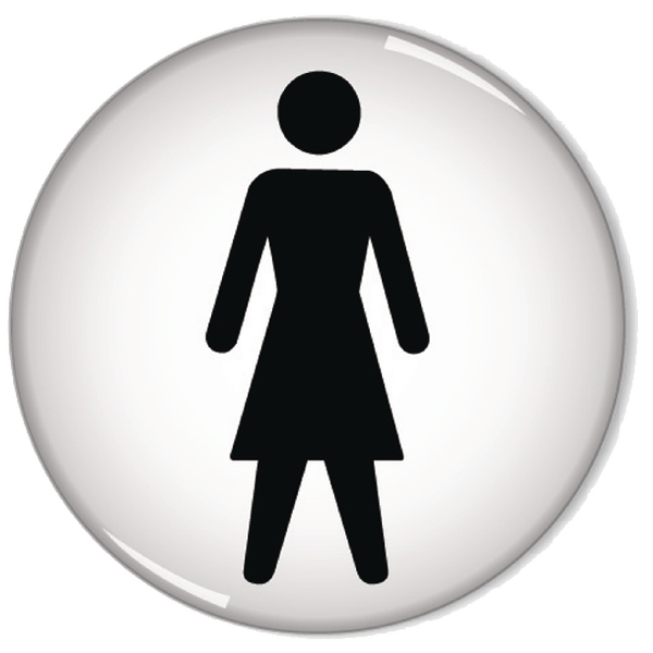General Sign Women Symbol 60mm RDS1