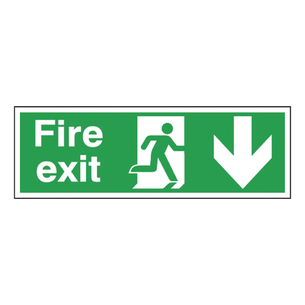 Fire Exit Self Ad Sign 150x450mm E100A/S