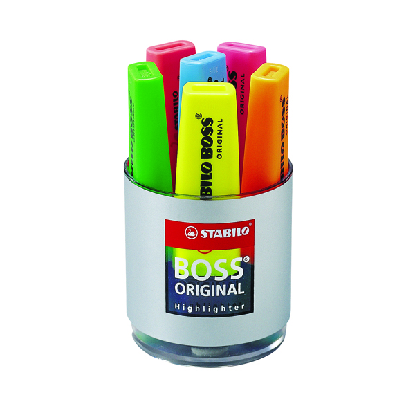 STABILO BOSS Original Highlighter Assorted Deskset (6 Pack) 7006