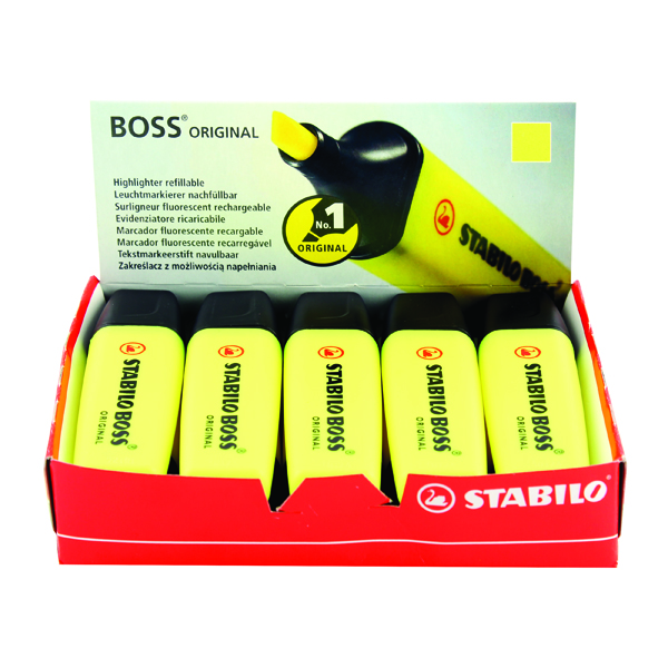 STABILO BOSS Original Yellow Highlighter (10 Pack) 70/24/10