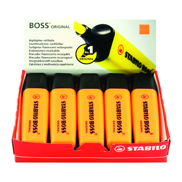 STABILO BOSS Original Orange Highlighter (10 Pack) 70/54/10