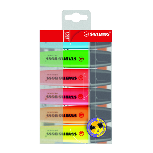 STABILO BOSS Original Assorted Highlighters (6 Pack) 70/6