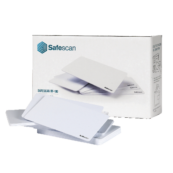 Safescan White RF-100 RFID Cards (25 Pack) 125-0325