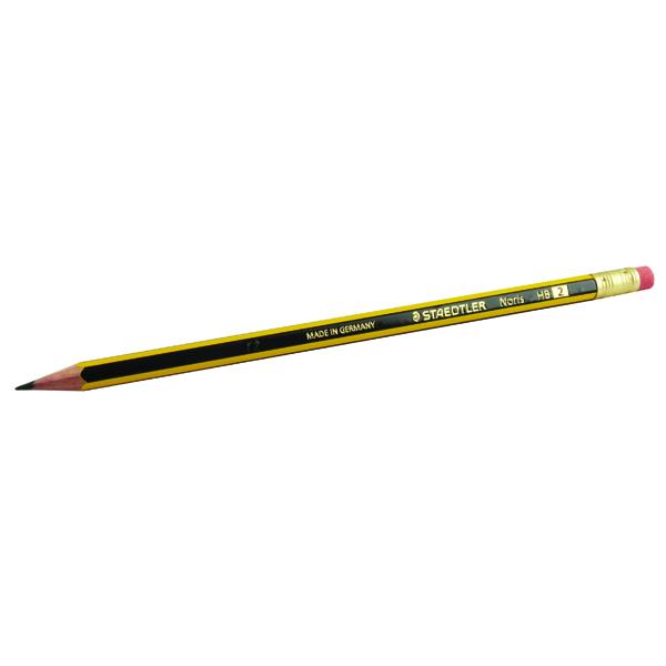 Staedtler Noris 122 HB Pencil Eraser Tipped (Pack of 12) 122-HBRT