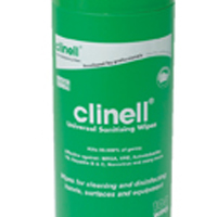 Clinell Universal Sanitising Wipes 100 (Pack of 8) GCWTUB100