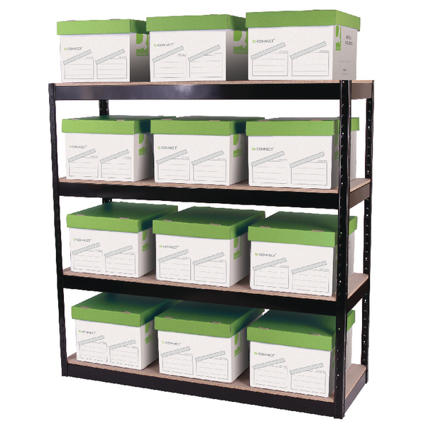 Storage Solutions Boltless 4-Shelf Unit Black