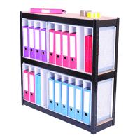 FF Storsol 3 Shelf Larch File Unit Blk