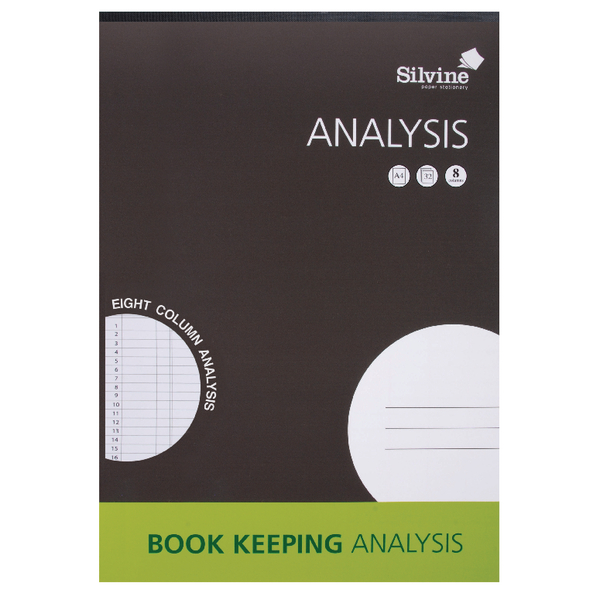 Image for Silvine A4 8 Column Analysis Pad A4A8