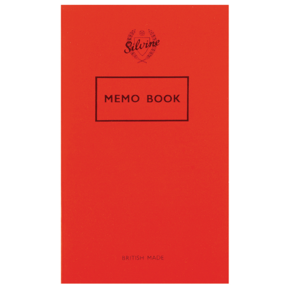 Silvine Memo Book 159x95mm 36 Leaf Ruled Feint (Pack of 24) 042F-T