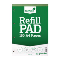 Image for Silvine Punched 4 Hole Headbound 80 Leaf Ruled Narrow Feint Refill A4 Pad (Pack of 6) A4RPNF