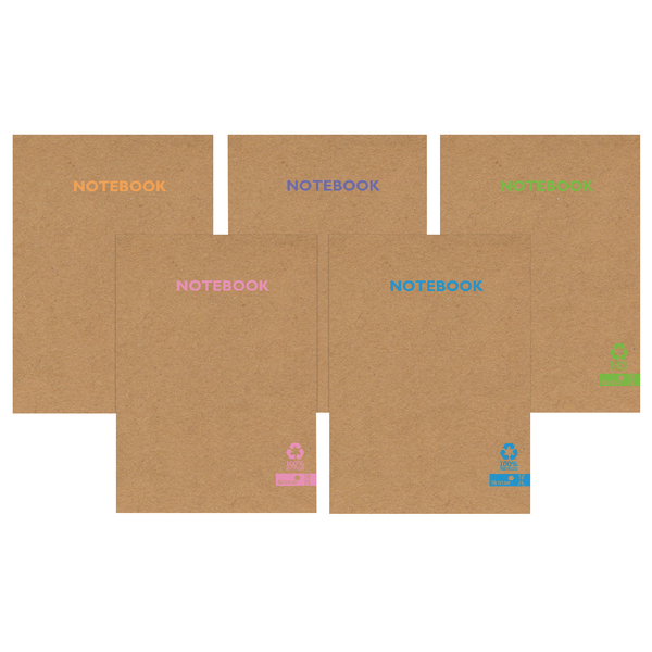 Silvine Premium Recycled Kraft A4 Notebook 80 Pages KRNBA4AC