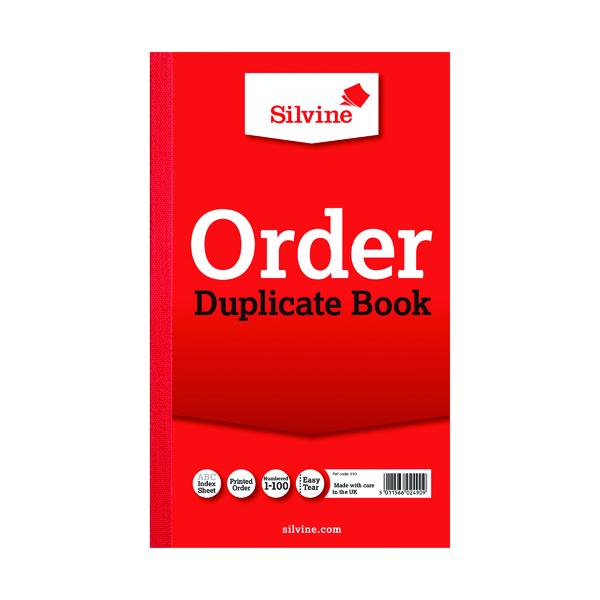 Silvine Duplicate Order Book 210x127mm (Pack of 6) 610
