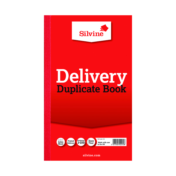 Silvine Duplicate Delivery Book 210x127mm  613-T