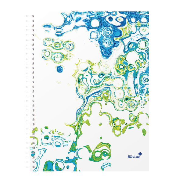 Image for Silvine Surf Twin Wire A5 Notebook Plus 160 Pages Assorted TWA4SF
