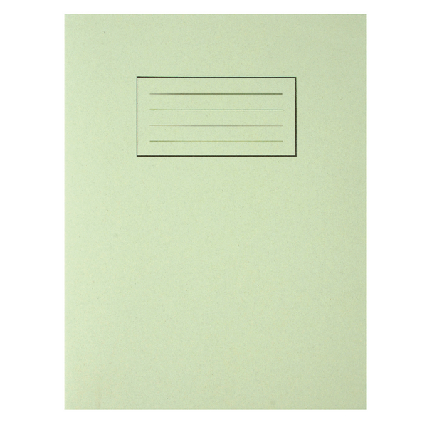 Silvine Exercise Book 80 Pages Feint Ruled with Margin Green 229x178mm (Pack of 10) EX102