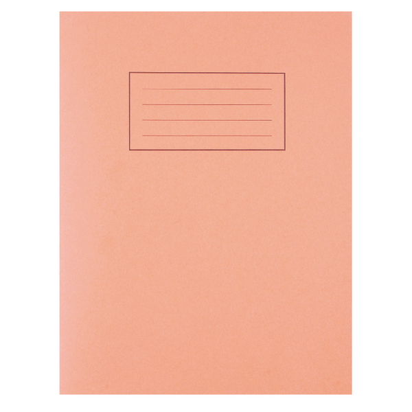 Image for Silvine Feint Ruled With Margin Orange 229x178mm Exercise Book 80 Pages (Pack of 10) EX105