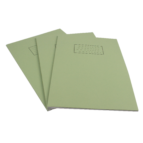 Silvine Green A4 Ruled Exercise Book (Pack of 10) EX110