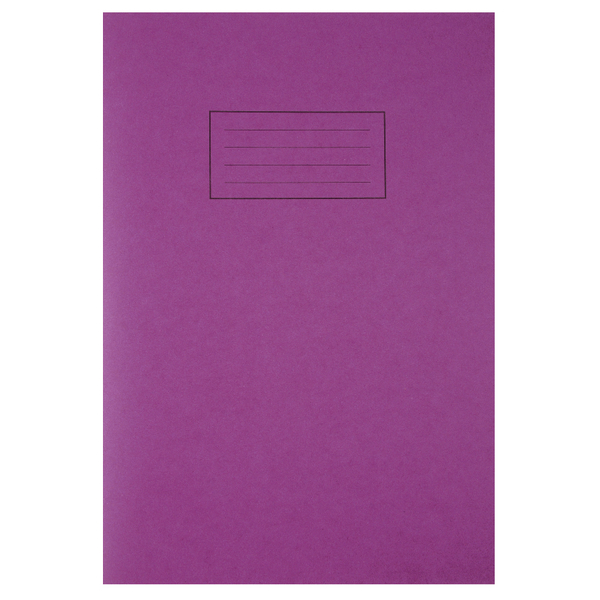 Silvine Ruled Feint With Margin Purple A4 Exercise Book 80 Pages (10 Pack) EX111