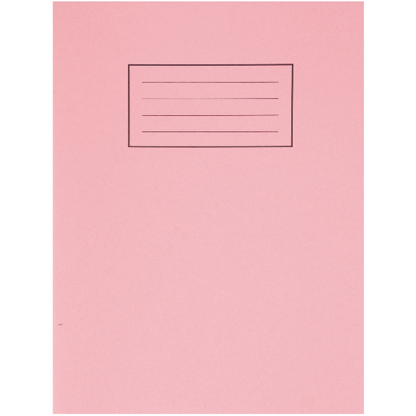 Silvine Exercise Book 80 Plain Pages Pink 229x178mm (Pack of 10) EX112