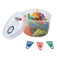 Plastic Paperclips 25mm Assorted Pack of 500 126011399