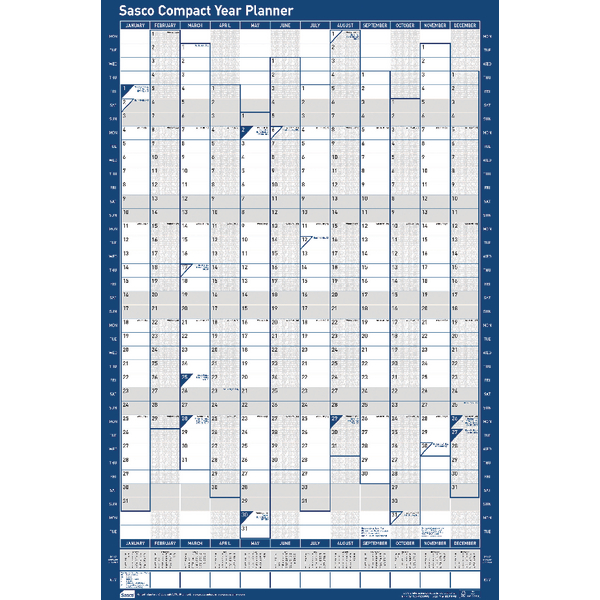 Sasco 2019 Compact Year Planner Portrait Unmounted