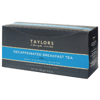 Taylors Naturally Decaffeinated Breakfast Tea Bag (Pack of 100) 2654W