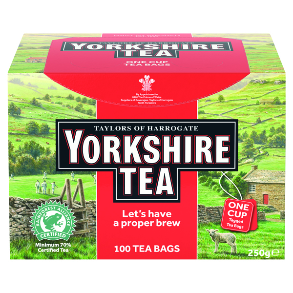 Yorkshire One Cup String Tea Bags Pk100