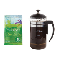 Taylors Lazy Sunday Coffee 45g Pouches With Free Cafetiere