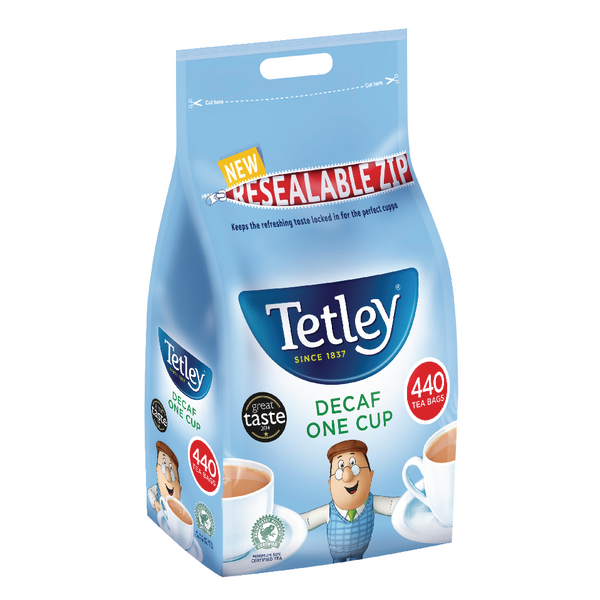 Tetley One Cup Decaffeinated Tea Bags (Pack of 440) 1009A