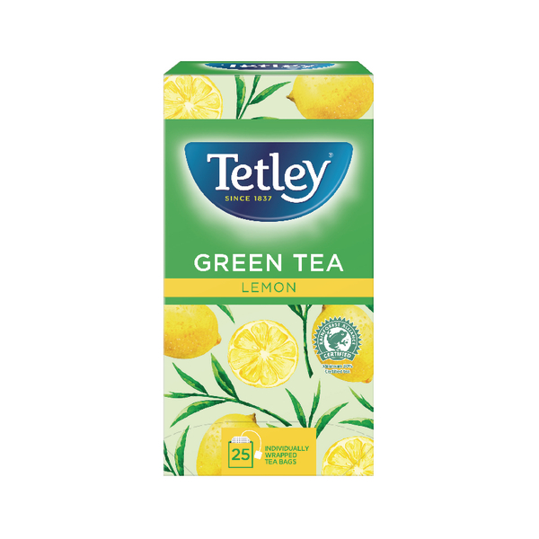 Tetley Green Tea With Lemon Tea Bags (Pack of 25) 1571A