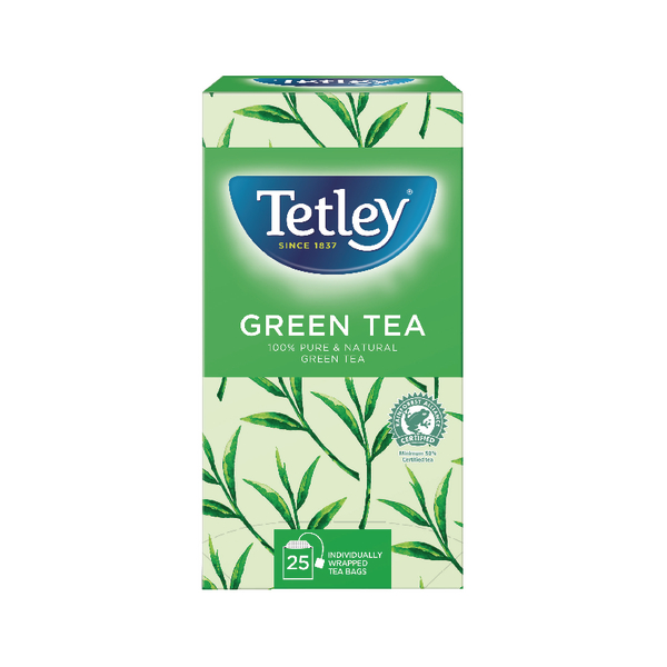 Tetley Pure Green Tea Bags (Pack of 25) 1575A