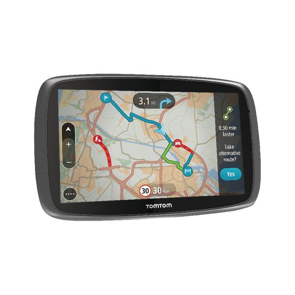 TomTom GO 6100 Portable Mountable GPS Navigator 15.2cm Touchscreen 1FL6.002.56