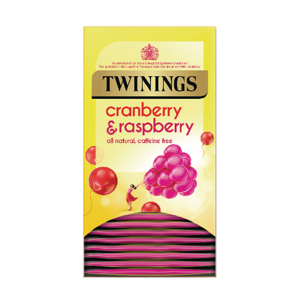 Twinings Cranberry, Raspberry and Elderflower Tea Bags (20 Pack) F09614