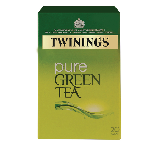 Twinings Pure Green Tea Bags F09542 (Pack of 20)