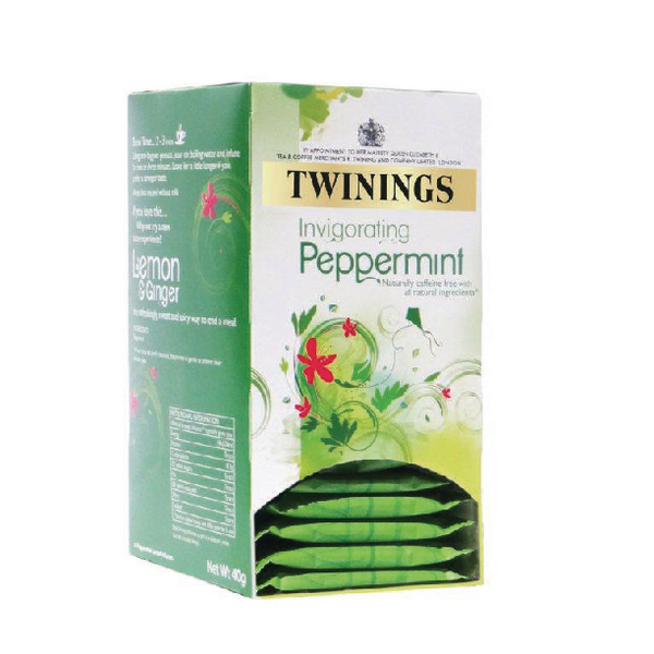 Twinings Pure Peppermint Herbal Infusion Tea Bags (Pack of 20) F09612