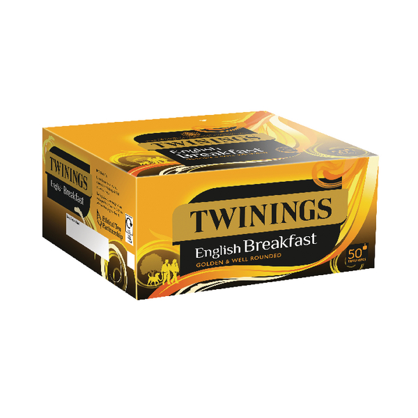 Twinings English Breakfast Envelope Tea Bags (50 Pack) x6 F09583