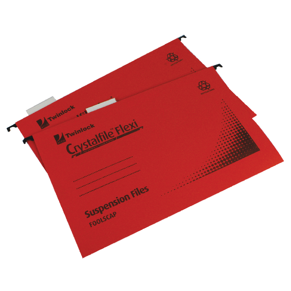 Rexel Crystalfile Flexi Standard Foolscap Red (Pack of 50) 3000042