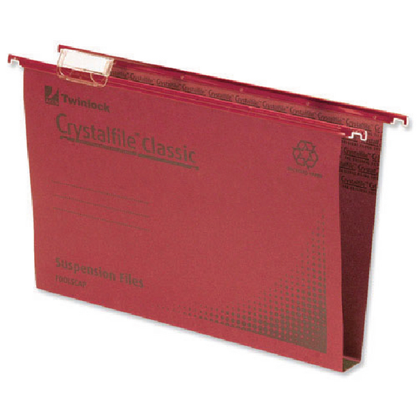 Rexel Crystalfile Classic Complete 30mm Foolscap Red Suspension File (Pack of 50) 70622