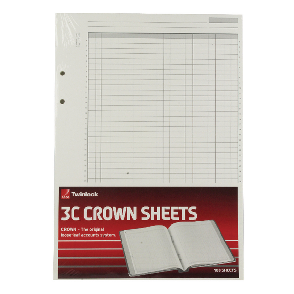 Rexel Crown 3C F9 Treble Cash Refill Sheets Pack of 100 75849