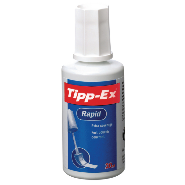 Tipp-Ex White Rapid Correction Fluid 20ml (Pack of 1) 8012879