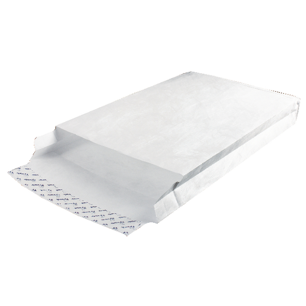 Image for Tyvek 381x254x50mm Peel and Seal White Gusset Envelope (Pack of 100) 757224