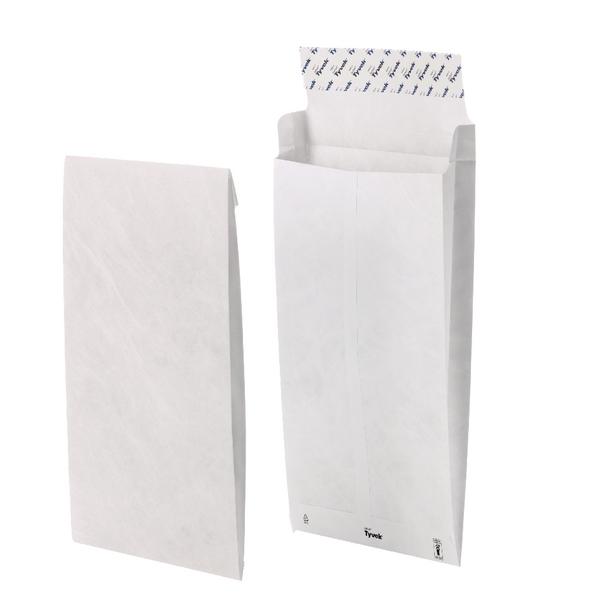 Tyvek B4 353x250x38mm Peel and Seal White Gusset Envelope (Pack of 100) 11843