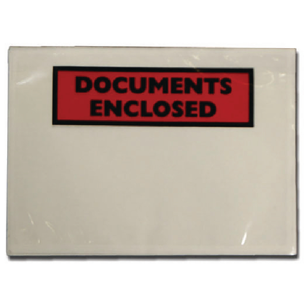 Documents Enclosed Self-Adhesive A7 Document Envelopes (Pack of 1000) 4302001