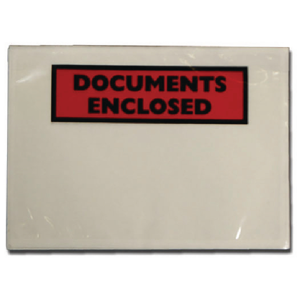 Documents Enclosed Self-Adhesive A6 Document Envelopes (Pack of 100) 9743DEE02