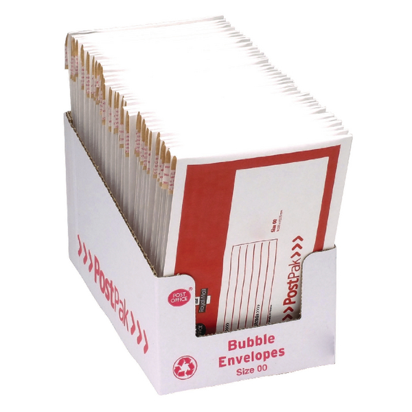 PostPak Bubble Envelope Size 00 (Pack of 40) 41628