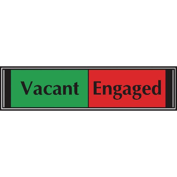 Sliding Sign Vacant/Engaged Self Adhesive V6DB/VE