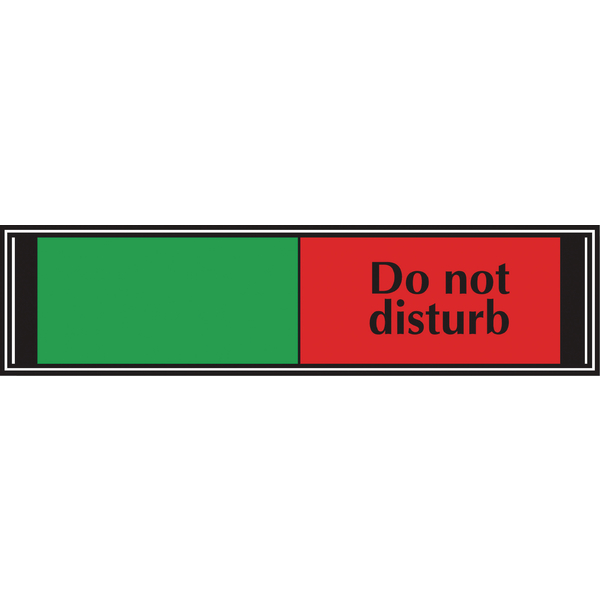 Sliding Sign Do Not Disturb 225x52mm V6DB/DD