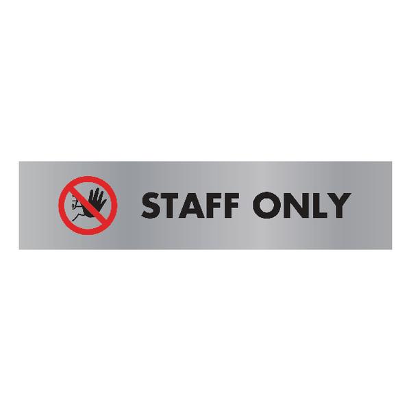 Acrylic Sign StaOnly Aluminium 190x45mm SR22365